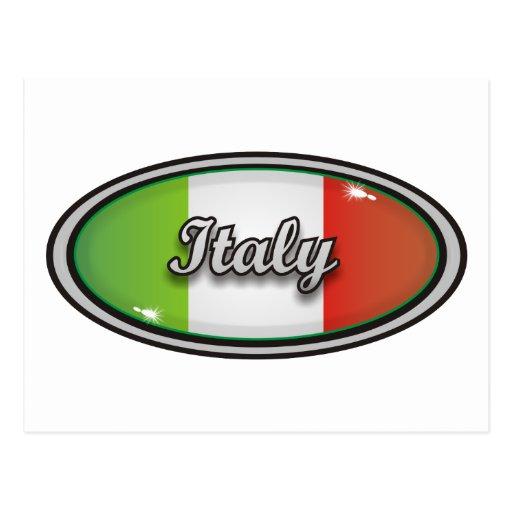 Bandera 1 de Italia Tarjetas Postales
