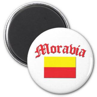 Bandera 1 de Moravia Imán Redondo 5 Cm
