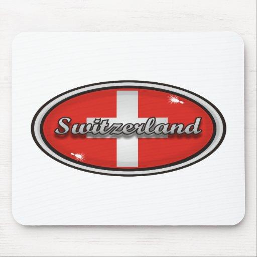 Bandera 1 de Suiza Alfombrilla De Ratones