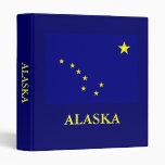 Bandera 1 del estado de Alaska en carpeta