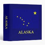Bandera 1 el 1/2 del estado de Alaska en carpeta