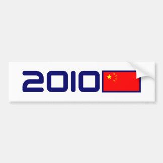 BANDERA 2010 de China Pegatina Para Auto