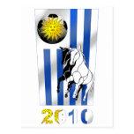 Bandera 2010 de Futbol Churruas del fútbol de Tarjeta Postal