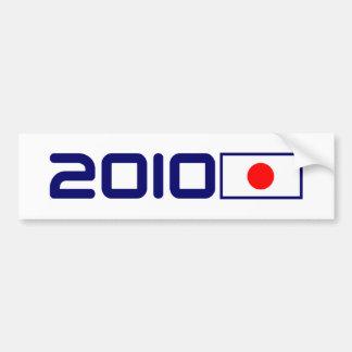 BANDERA 2010 de Japón Pegatina Para Auto