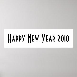 Bandera 2010 de la Feliz Año Nuevo Impresiones