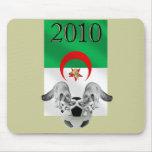 Bandera 2010 del fútbol de Argelia Les Fennecs Alfombrillas De Ratón