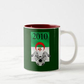 Bandera 2010 del fútbol de Argelia Les Fennecs Taza De Dos Tonos