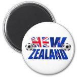 Bandera 2010 del fútbol del logotipo NZ del fútbol Iman Para Frigorífico