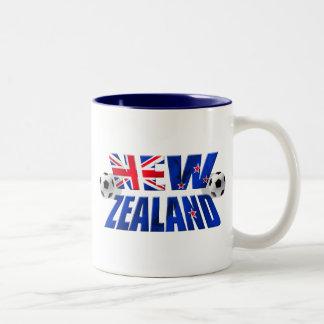 Bandera 2010 del fútbol del logotipo NZ del fútbol Taza De Dos Tonos