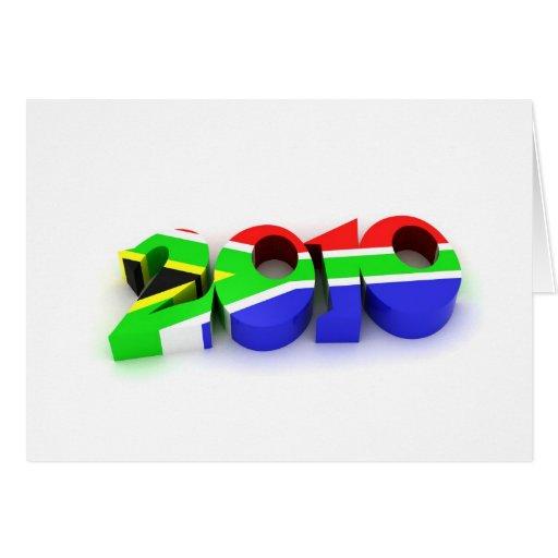 bandera 2010 tarjeta de felicitación