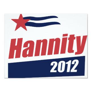 """Bandera 2012 de Hannity 2 Invitación 4.25"""" X 5.5"""""""
