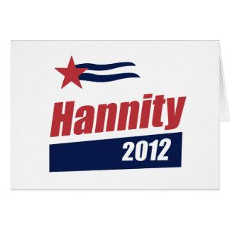 Bandera 2012 de Hannity 2 Tarjeta De Felicitación