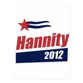 Bandera 2012 de Hannity 2 Postales