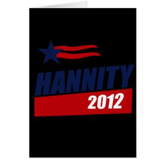 Bandera 2012 de Hannity Tarjeta De Felicitación