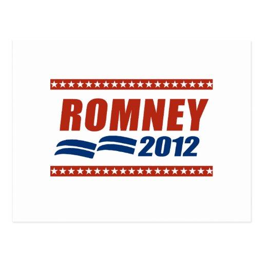 BANDERA 2012 DE ROMNEY POSTALES