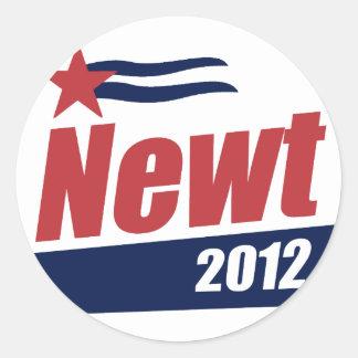 Bandera 2012 del Newt Etiquetas Redondas