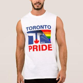 Bandera 2014 del arco iris del orgullo de Toronto Playera Sin Mangas