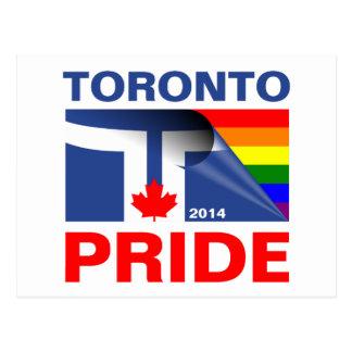Bandera 2014 del arco iris del orgullo de Toronto Tarjeta Postal