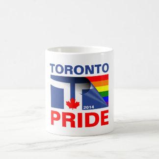 Bandera 2014 del arco iris del orgullo de Toronto Taza