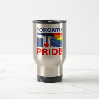 Bandera 2014 del arco iris del orgullo de Toronto Tazas