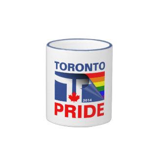 Bandera 2014 del arco iris del orgullo de Toronto Taza De Dos Colores