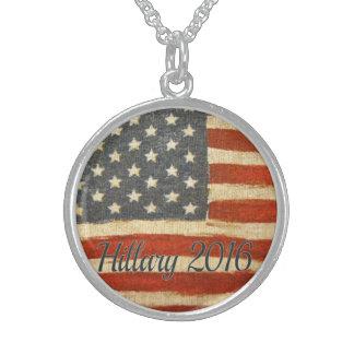 bandera 2016   del vintage de hillary circle.jpg collares de plata esterlina