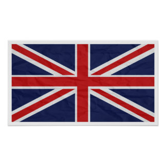 "Bandera 24"" de Reino Unido Union Jack"" poster"