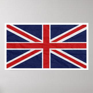 "Bandera 24"" de Reino Unido Union Jack"" poster Póster"