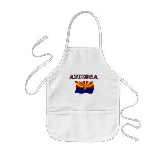 Bandera 2 de Arizona Delantal Infantil