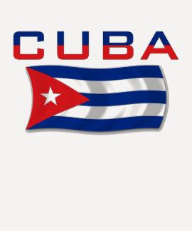 Bandera 2 de Cuba Poleras