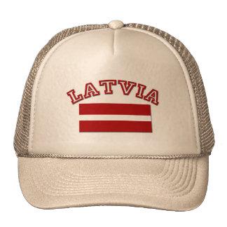 Bandera 2 de Letonia Gorros Bordados