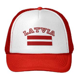 Bandera 2 de Letonia Gorras
