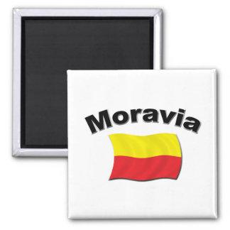 Bandera 2 de Moravian Imán Cuadrado