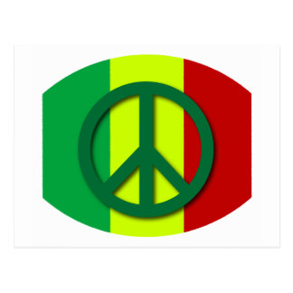 Bandera 2 de Rasta de la paz Postal