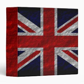 """Bandera 2 de Reino Unido del Grunge Carpeta 1 1/2"""""""