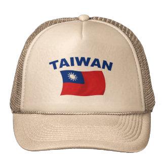 Bandera 2 de Taiwán Gorro De Camionero