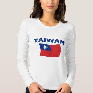 Bandera 2 de Taiwán Remeras