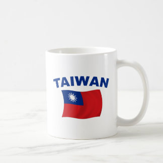 Bandera 2 de Taiwán Taza