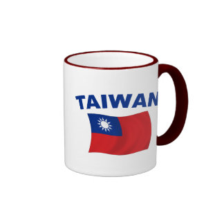 Bandera 2 de Taiwán Taza De Dos Colores