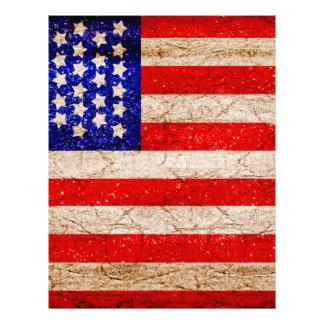 Bandera 2 de Vintagel del americano Membrete