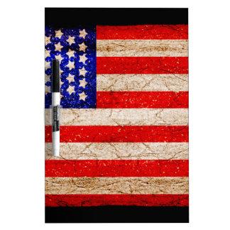 Bandera 2 de Vintagel del americano Pizarra Blanca