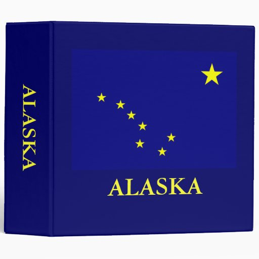 Bandera 2 del estado de Alaska en carpeta