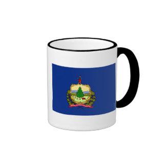 Bandera 2.png del estado de Vermont Taza De Dos Colores