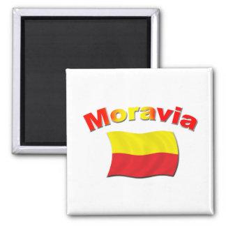 Bandera 3 de Moravia Imán Cuadrado
