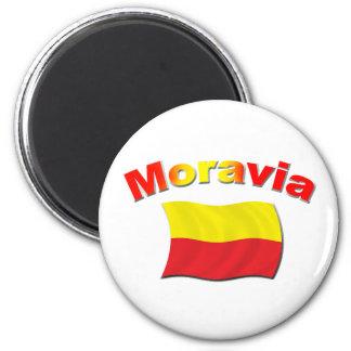 Bandera 3 de Moravia Imán Redondo 5 Cm