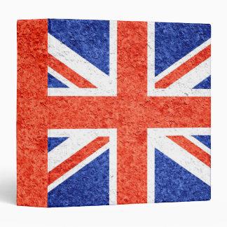 """Bandera 3 de Reino Unido del Grunge Carpeta 1 1/2"""""""