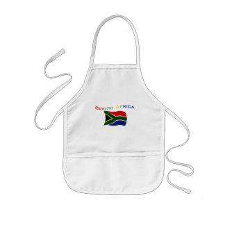 Bandera 3 de Suráfrica Delantal Infantil