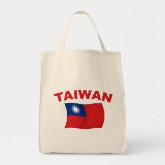 Bandera 3 de Taiwán Bolsa Tela Para La Compra