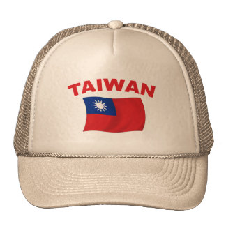 Bandera 3 de Taiwán Gorros Bordados