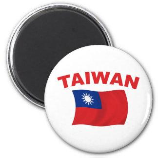 Bandera 3 de Taiwán Imán Redondo 5 Cm